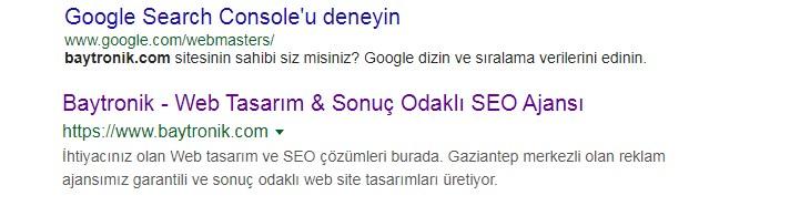 baytronik google sonuç
