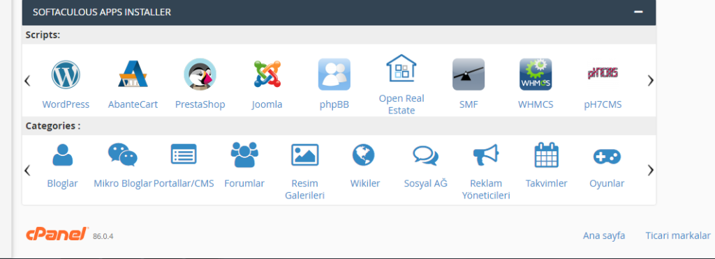 cpanel wordpress kurulumu