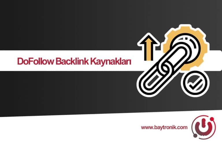 59 Adet DoFollow Backlink Kaynağı