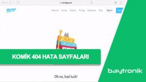 Komik 404 Hataları