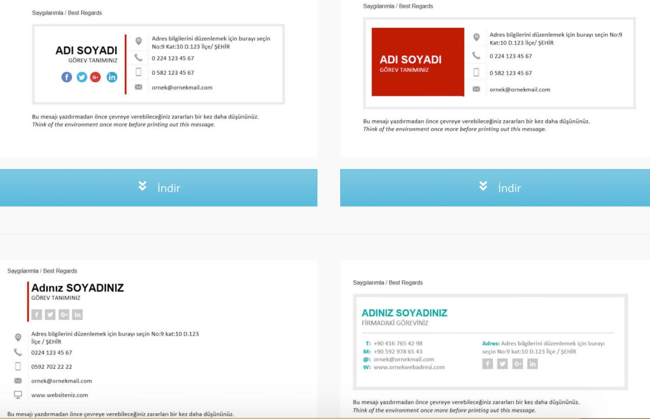 mail imza örnekleri