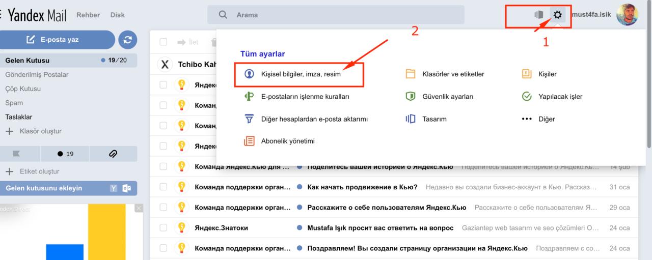 Yandex Mail İmza Ayarı